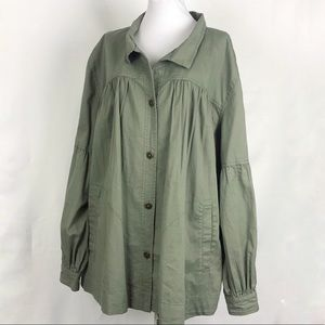 Susina Puff Sleeve Jacket Blouse Plus Size 3X